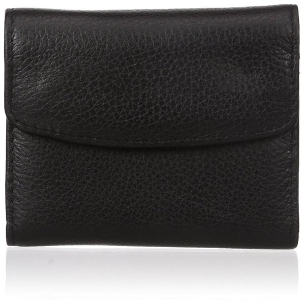 Buxton Mini Trifold Wallet Card Case, Black, One Size - Black