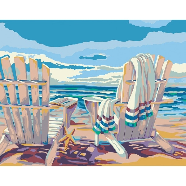 """Paint By Number Kit 11""""X14""""-Seaside"""