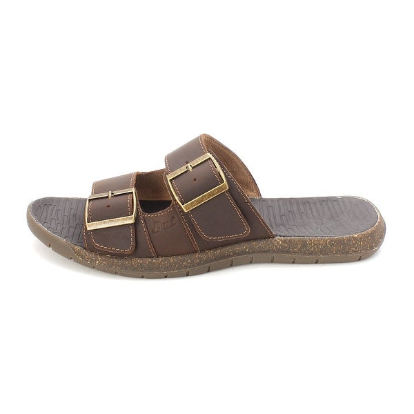 G.H. Bass & Co. Mens SALEM-2 Leather Slip On Closed Toe Slides - 12
