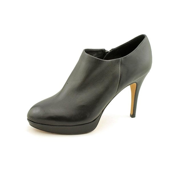 Vince Camuto Elvin Women Round Toe Leather Black Bootie