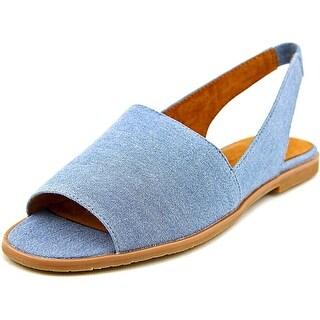 BC Footwear Shot In The Dark Women Open-Toe Canvas Slingback Sandal