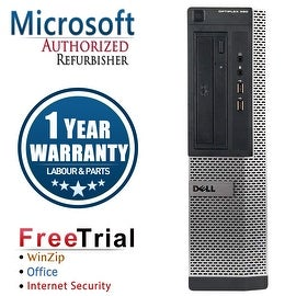 Refurbished Dell OptiPlex 3010 Desktop Intel Core I5 3450 3.1G 8G DDR3 2TB DVD Win 10 Pro 1 Year Warranty
