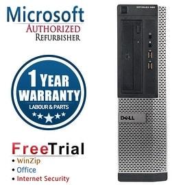 Refurbished Dell OptiPlex 3010 Desktop Intel Core I5 3450 3.1G 8G DDR3 320G DVD Win 7 Pro 64 Bits 1 Year Warranty