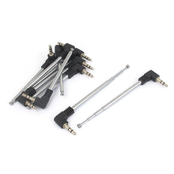 Unique Bargains 10pcs 3.5mm Plug Adapter Telescopic 4 Sections Antenna Aerial for RC Controller