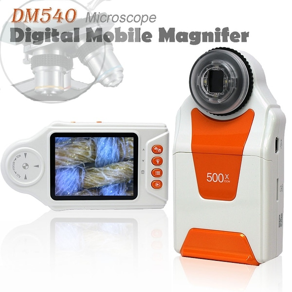 """Indigi® Wireless Digital Mobile Handheld Magnifier Microscope 500x ZOOM w/ 2.7"""" Color LCD Display - 4x LED Light"""