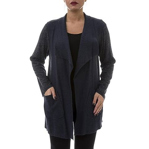 Wool Cardigan with Pockets - Sizes 14, 16, 18 & 20 - Plus Size Clothing - La Mouette Collections
