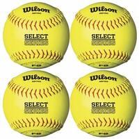 "Wilson General Recreation 12"" Softballs (Yellow, 4 Pack)"