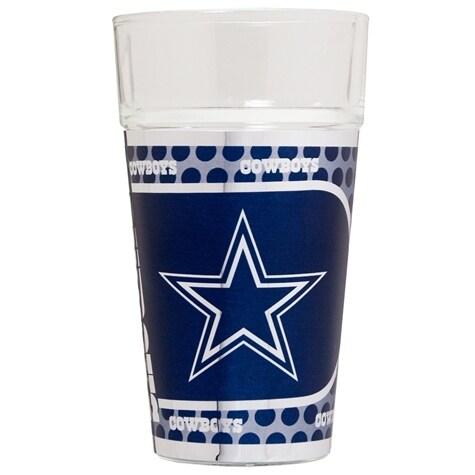 Dallas Cowboys Metallic Graphics Pint Glass