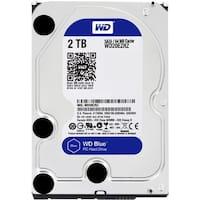 """""""WD WD20EZRZ WD Blue 2 TB 3.5-inch SATA 6 Gb/s 5400 RPM PC Hard Drive - SATA - 5400 - 64 MB Buffer - Blue"""""""