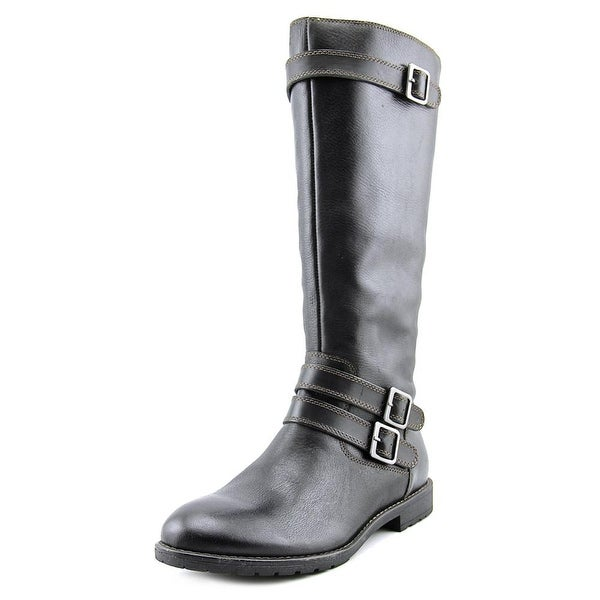 Montana Gavyn Women  Round Toe Leather  Knee High Boot
