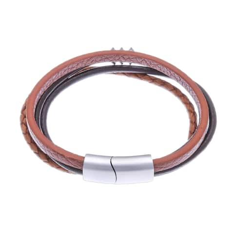 NOVICA Free Spirited in Brown, Leather cord bracelet
