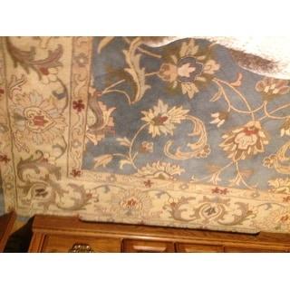 Shop Safavieh Handmade Antiquity Teal Blue Taupe Wool Rug