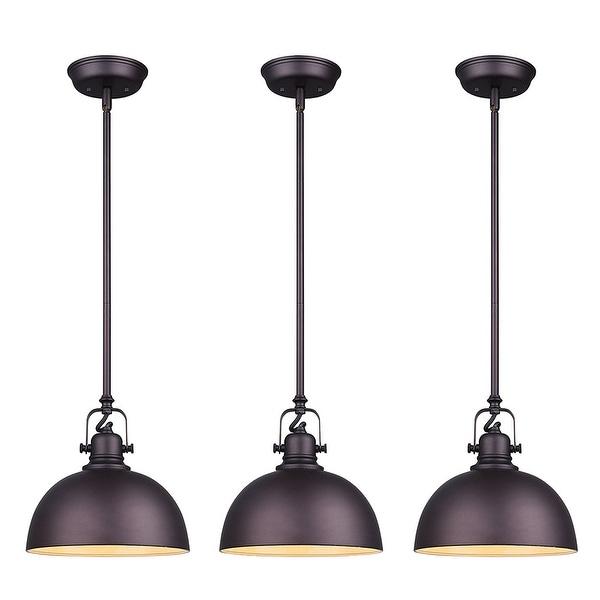 Canarm Luztar Polo 3 Light Pendant Black Finish With Painted