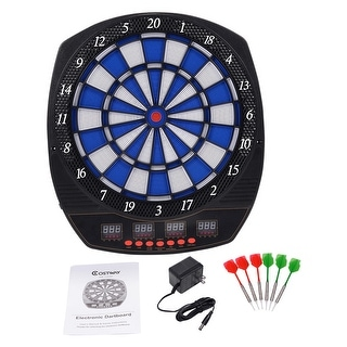 Costway Arachnid Electronic Dart Board Set Target Game Room LED Display w/ 6 Darts