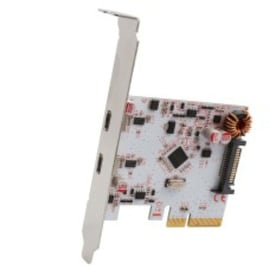 Syba PCI-Express 2.0 x4/ 2-Port USB 3.1 Generation 2 Type-C Card with Low Profile Bracket ASMedia 1142+1542 Chipset