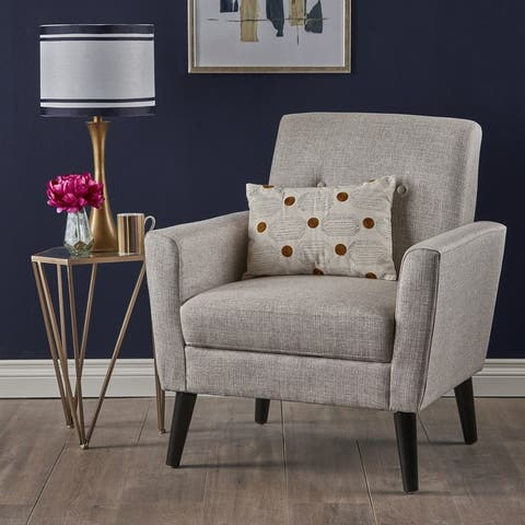 Sienna Mid Century Fabric Club Chair by Christopher Knight Home