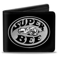 Dodge Super Bee Logo Black Grays White Bi Fold Wallet - One Size Fits most