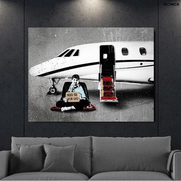 Shop IKONICK Need Money For Gas Canvas Art - Free Shipping