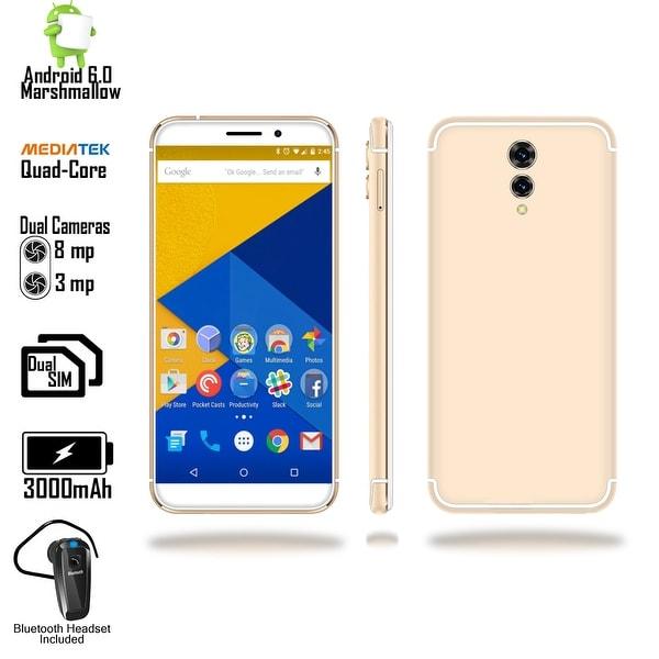 "Indigi 2018 GSM UNLOCKED 4G LTE 5.6"" Android 6 SmartPhone [2SIM + QUAD-CORE + Fingerprint Scanner] + Bluetooth Headset"