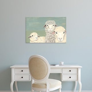 Easy Art Prints Jade Reynolds's 'Bashful Sheep II' Premium Canvas Art