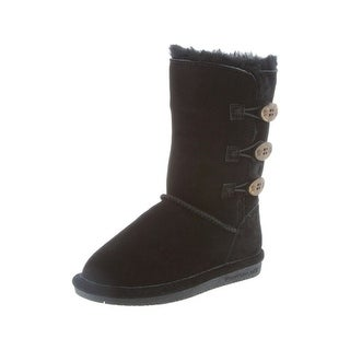 Bearpaw Boots Girls Lauren Toggle Cow Suede Sheepskin (5 options available)