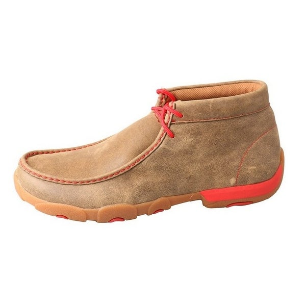 Twisted X Casual Shoes Womens Driving Mocs Lace Up Bomber Red
