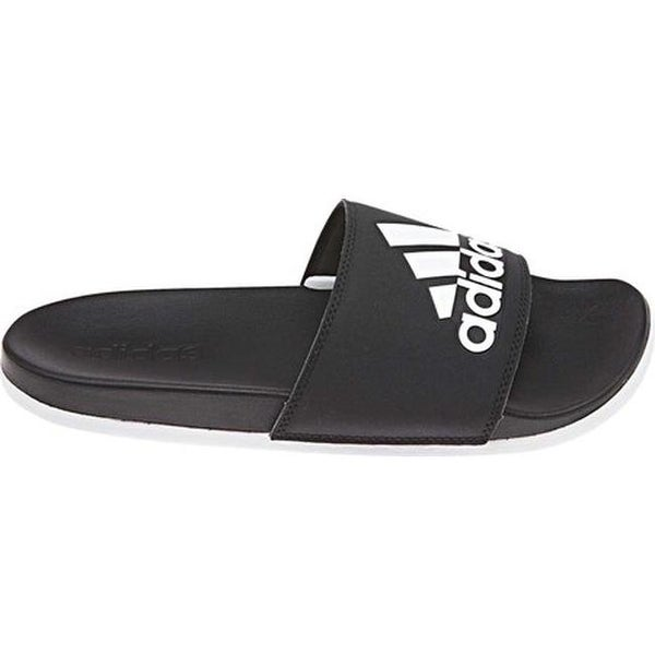 save off 2c21b 4388d adidas Women  x27 s Adilette Cloudfoam PLus Logo Slide Sandal Core  Black FTWR