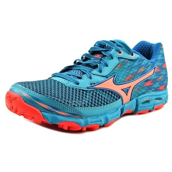 Mizuno Wave Hayate 2 Women Round Toe Synthetic Blue Running Shoe