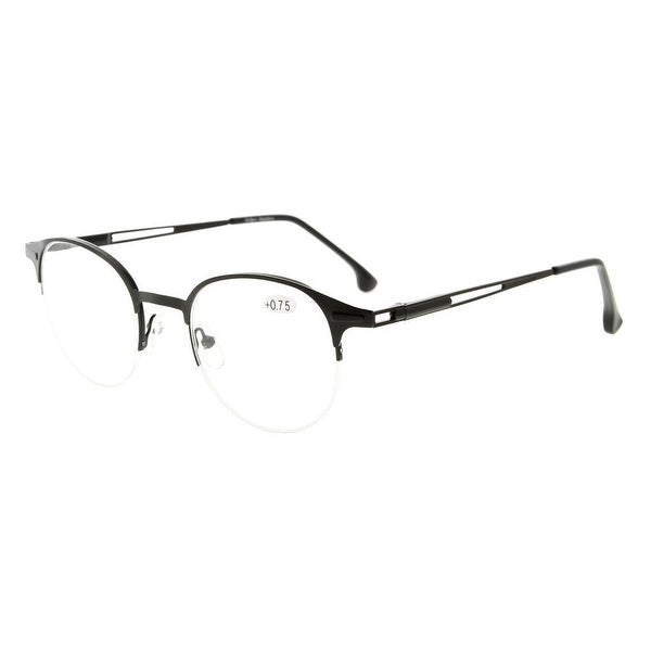 1bfe64d59b4 Shop Eyekepper Readers Spring Hinges Half-rim Round Reading Glasses ...