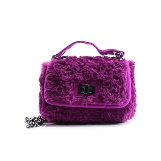 Steve Madden NEW Red Magenta Faux Fur Amelie Mini Crossbody Bag Purse