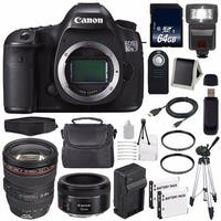 Canon EOS 5DS R DSLR Camera (International Model) (0582C002) + EF 24-105mm f/4L IS USM Lens + 64GB SDXC Card Bundle
