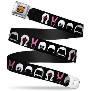Hamburger Full Color Black Belcher Family Head Silhouettes Black White Pink Seatbelt Belt