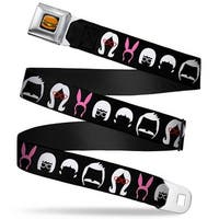 Hamburger Full Color Black Belcher Family Head Silhouettes Black White Pink Seatbelt Belt