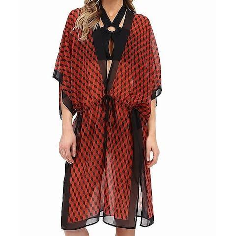 Michael Kors Orange Women's Size Large L Sheer Kimono Sweater