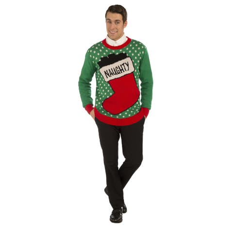 Naughty Stocking Ugly Christmas Sweater Adult
