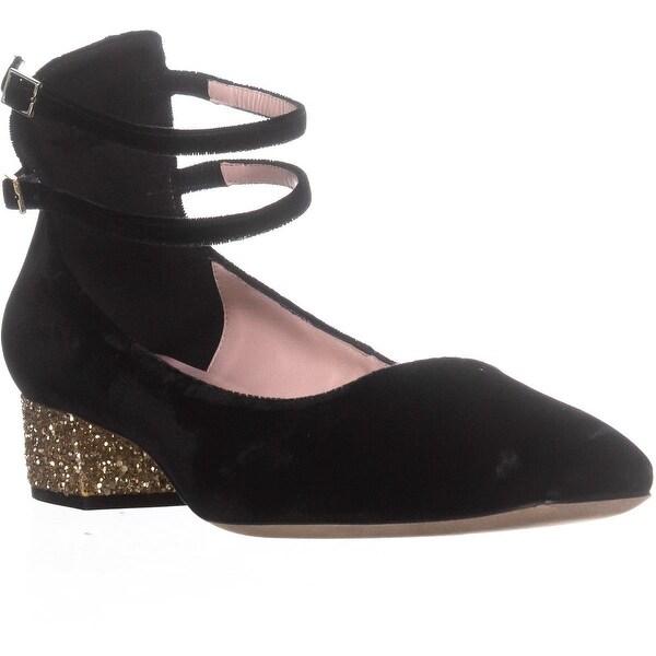 Kate Spade New York Macellina Glitter Heel, Black - 10 us