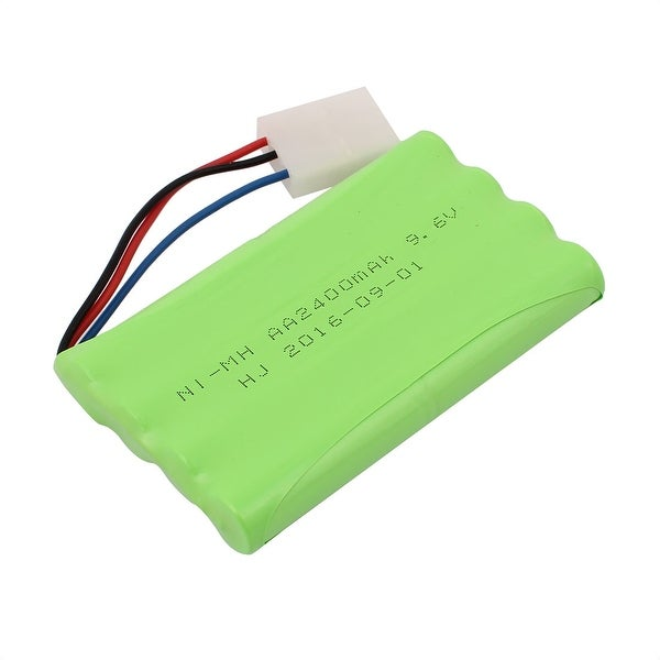DC 9.6V 2400mAh Rechargable Ni-MH AA Battery Pack for RC Airplane w 3P Connector
