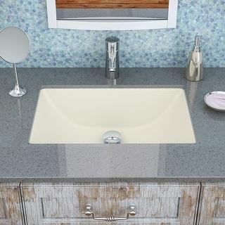 """DecoLav 1402  Callensia 20-1/4"""" Undermount Bathroom Sink with Overflow"""