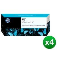 HP 91 775-ml Photo Black DesignJet Pigment Ink Cartridge (C9465A) (4-Pack)