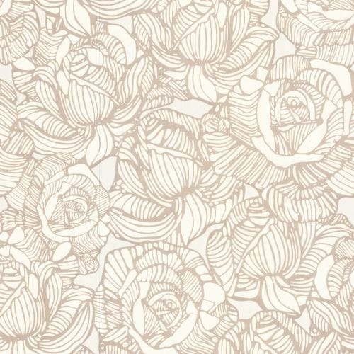 Brewster 450-67344 Calista Beige Modern Rose Wallpaper