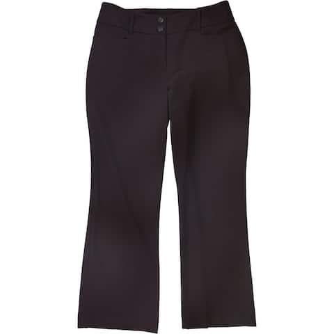 Alfani Womens Curvy-Fit Dress Pants, Purple, 6