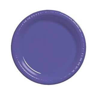 "Club Pack of 240 Grape Purple Premium Disposable Plastic Party Dinner Plates 9"""