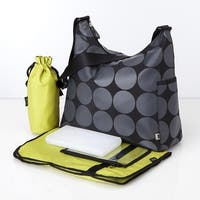 oioi Grey Dot Hobo Diaper Bag