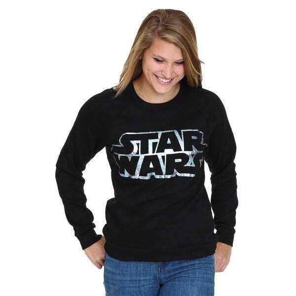 Star Wars Foil Logo Juniors Burnout Sweatshirt