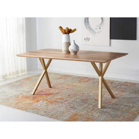 "SAFAVIEH Couture Barron Rectangle Dining Table - 68.9"" W x 35.4"" L x 29.9"" H"
