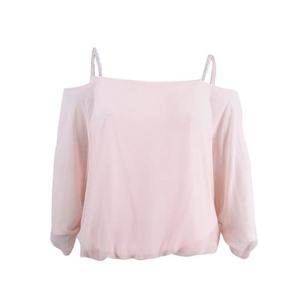 4c8de5c54e9e8 Shop MSK Women s Embellished Cold-Shoulder Blouse (L