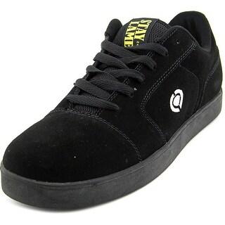 Circa IV Men Round Toe Suede Black Skate Shoe