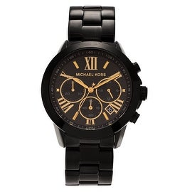 Michael Kors Women's 'Brecken' MK6302 Black Dial Chronograph Bracelet Watch