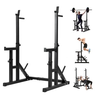 Link to Adjustable Squat Rack Barbell Rack, Multi-Function Dip Stand Fitness Squat Stand, Weight Lifting Bench Press 550lbs Max Load Similar Items in Swimming Pool Store