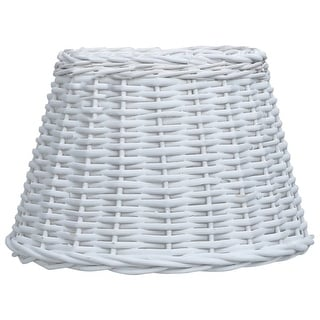 "Link to vidaXL Lamp Shade Wicker 11.8""x7.9"" White Similar Items in Lamp Shades"